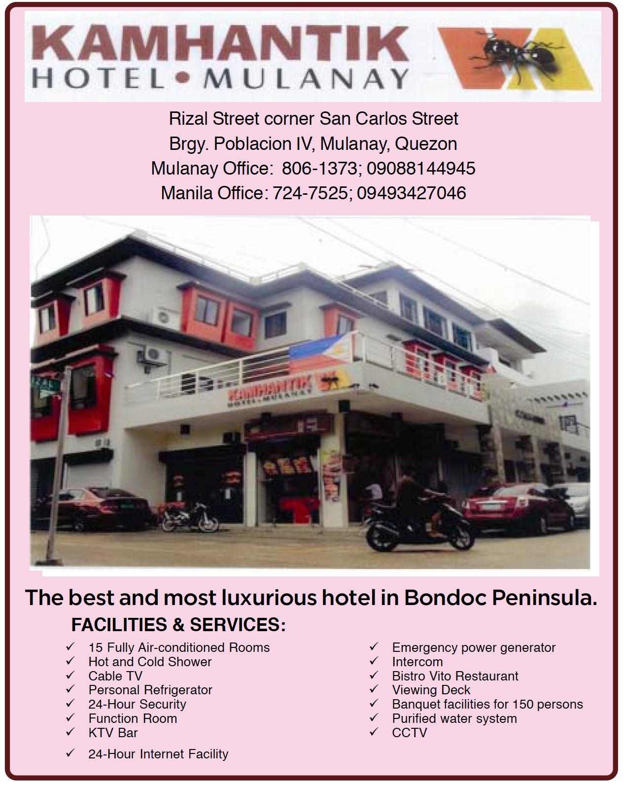 Kamhantik Hotel @ Mulanay, Quezon